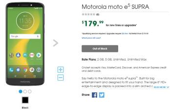 Moto E5 Plus lands at Cricket as Moto E5 Supra