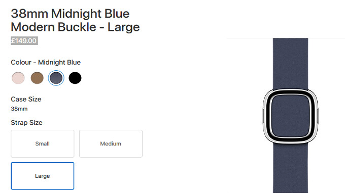 Apple pulled the Modern Buckle watch band from its U.S. online store and no one noticed until now