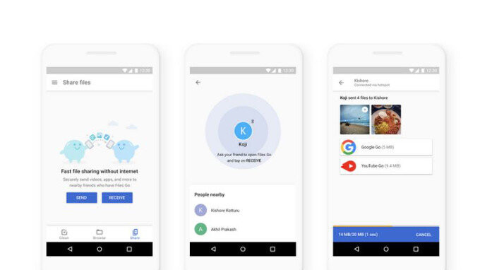 Google might be beta testing an AirDrop competitor in its Files Go app