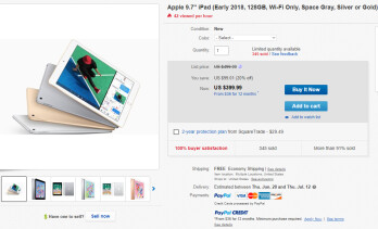 Deal: Apple's iPad 9.7-inch (2018) is 20% off on eBay