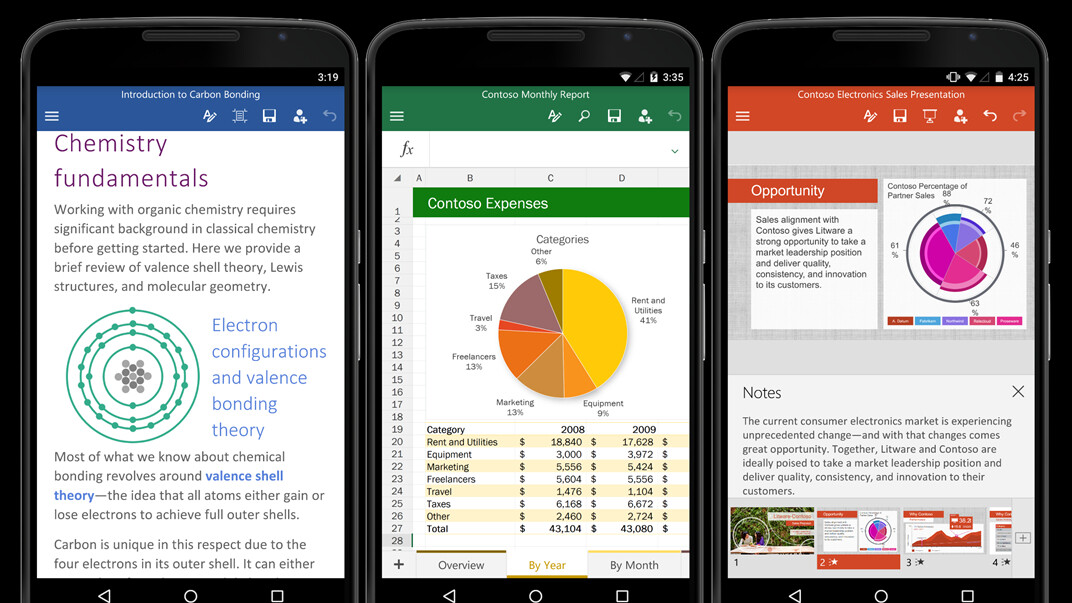 Lots of new features are coming to Office for Android in July