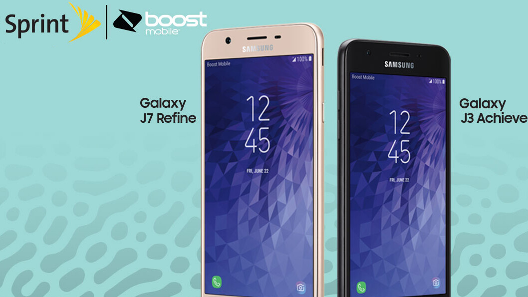 Samsung Galaxy J7 Refine and J3 Achieve are the newest budget phones on Sprint and Boost Mobile