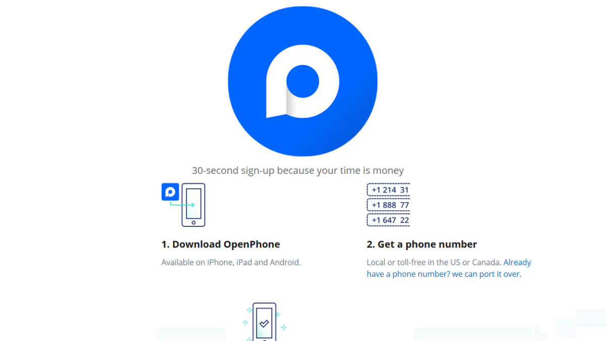 OpenPhone app allows you to use one handset for home and business calls