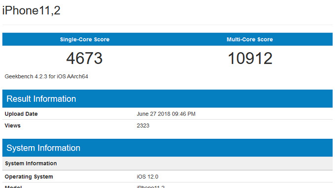 At least one 2018 Apple iPhone model will carry 4GB of RAM says benchmark test