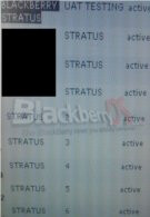 TELUS currently testing the BlackBerry Stratus 9100?
