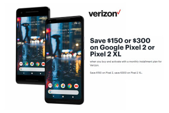 Save $300 on the Google Pixel 2 XL or $150 on Google Pixel 2 with this Best Buy deal