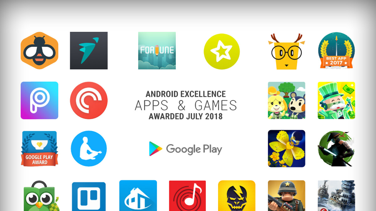 Google unveils new Android Excellence apps and games collection (Q3 2018)