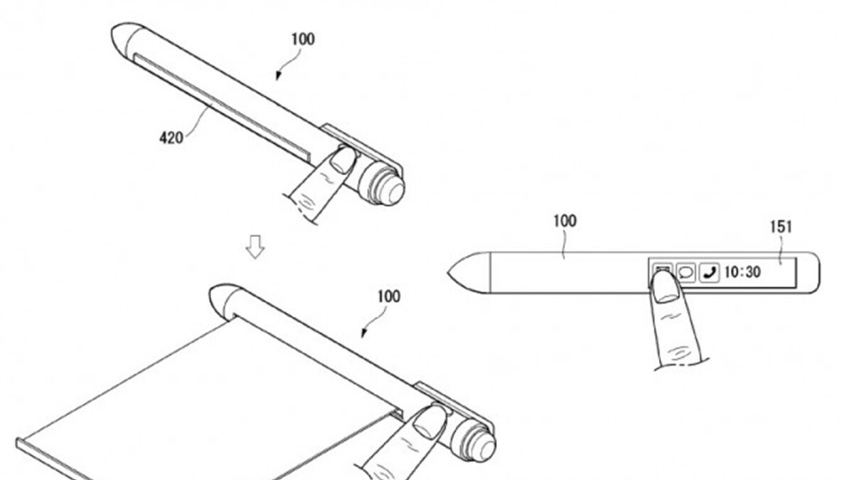 LG patents a crazy rollable smart pen that aims to replace your smartphone