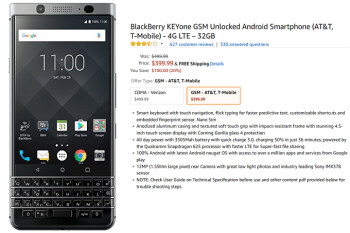 Grab the unlocked (GSM) BlackBerry KEYone from Amazon for $400 and save $100