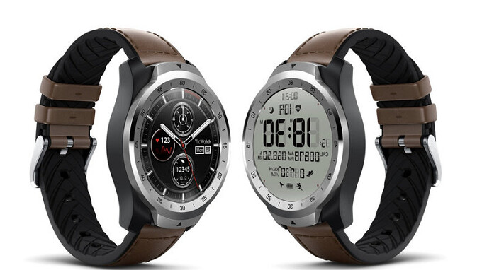 TicWatch Pro, the smartwatch sporting two displays, is now available from Amazon
