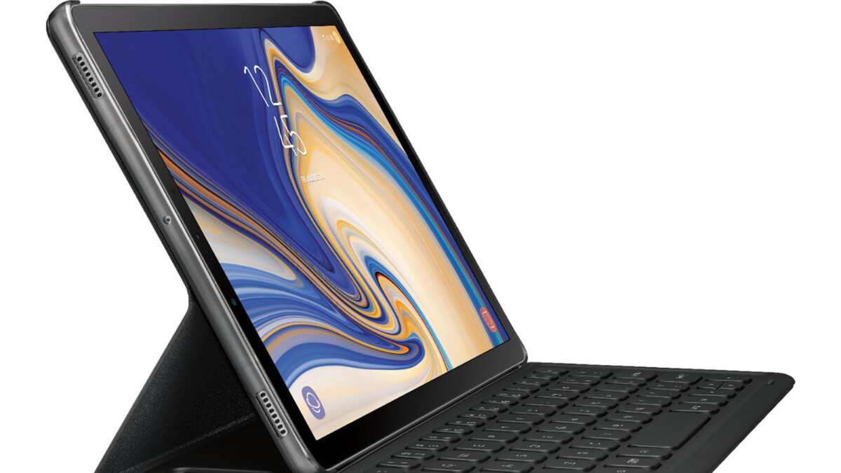 New Samsung Galaxy Tab S4 image leaks out, S Pen and optional keyboard visible