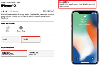 Save $300 on Apple iPhone 8, iPhone 8 Plus and iPhone X at Verizon with select trade-in and new line