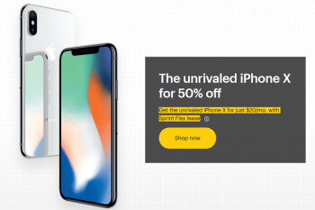 Sprint rehashing the half-price iPhone X deal, use it for just $20 a month