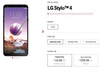 The inexpensive LG Stylo 4 phablet goes on sale at T-Mobile