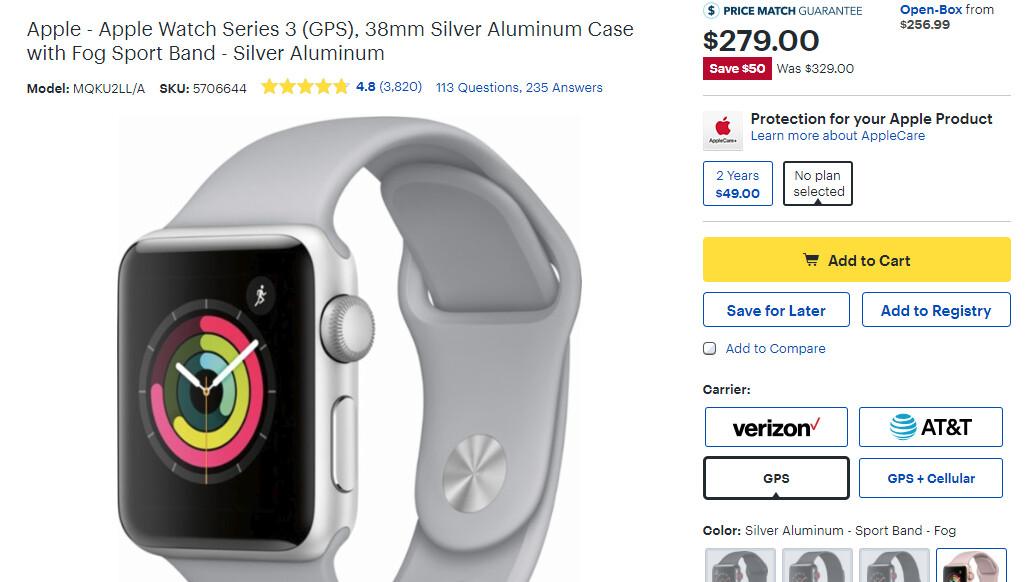 Apple watch series 3 best buy