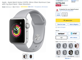 Deal: Apple Watch Series 3 gets a $50 discount at Best Buy