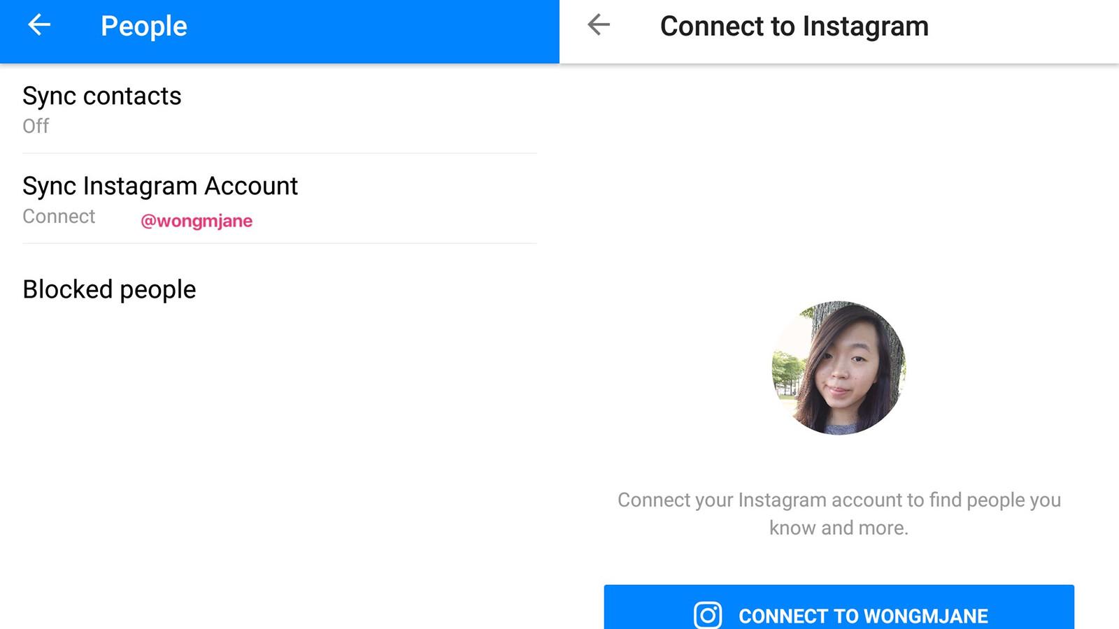 Facebook Messenger kann Benutzern in Kürze erlauben, ihre Instagram-Konten