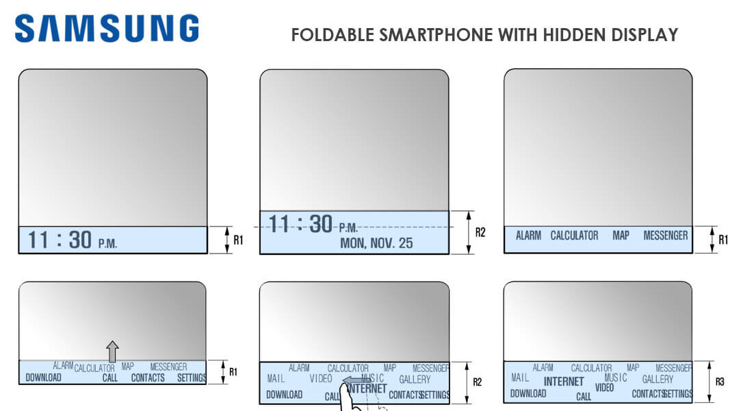 Here's how the 'hidden display' on the foldable Galaxy X may function