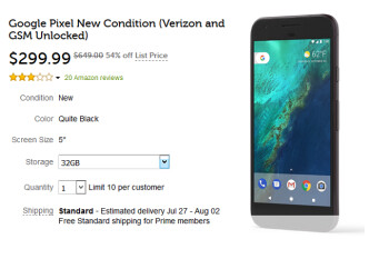 Buy a new Google Pixel for $300 or grab a refurbished unit for just $200