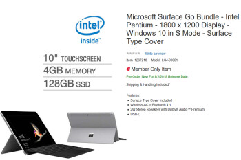 New Surface Go variant discovered at Costco
