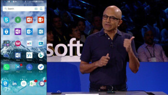 Microsoft CEO proudly displays software on iOS and Android
