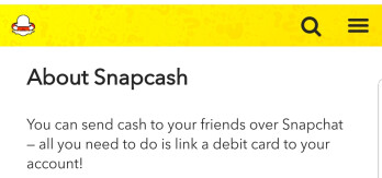 Snapchat puts an end to its money transfer venture