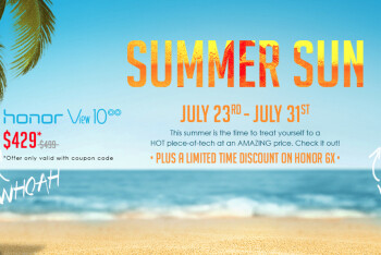Honor Summer Sun sale offers discounts on Honor View 10, 6X and 7X phones