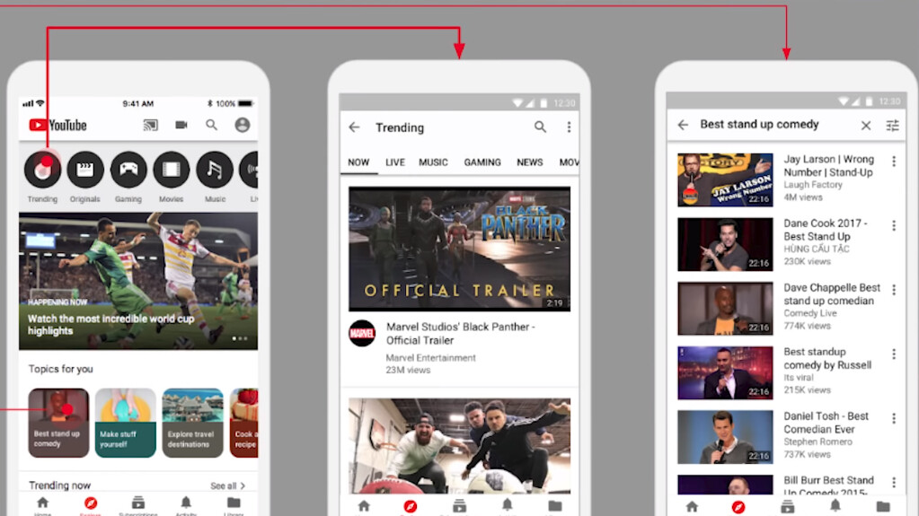 YouTube adds experimental Explore tab in the iPhone app