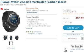 Deal: Huawei Watch 2 Sport and Watch 2 Classic get $80 discount at B&H