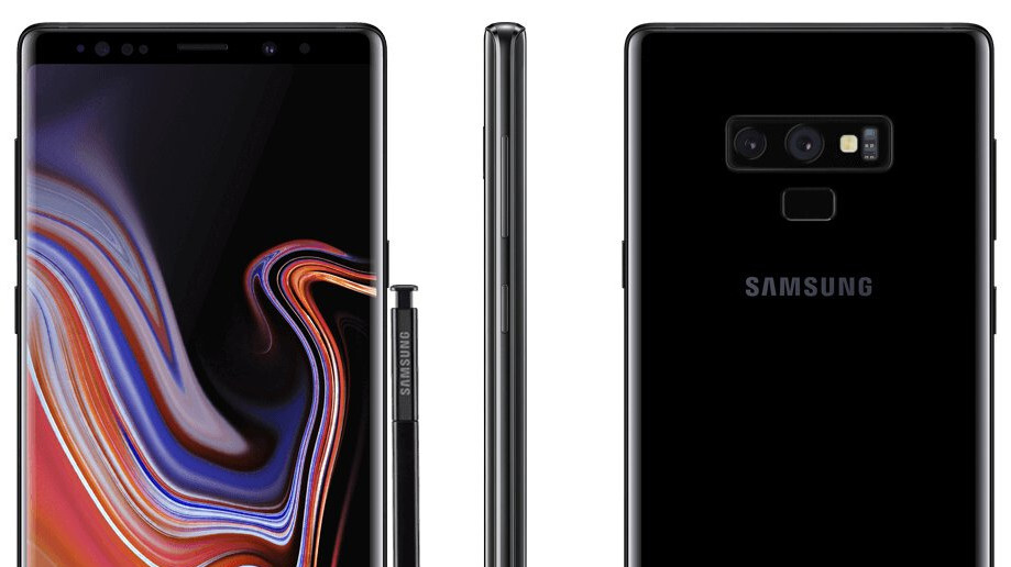 Ladies and gents, the Galaxy Note 9 in black