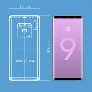 Galaxy Note 9 vs Galaxy Note 8: size comparison