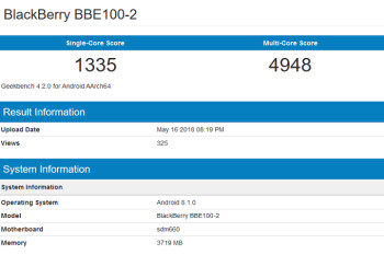 Rumored BlackBerry KEY2 Lite (BBE100-2) is now FCC certified sporting a 2900mAh battery inside