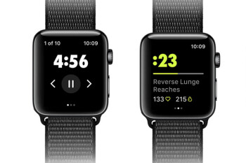 Apple Watch now supports all 180+ drills available with the Nike Training Club app