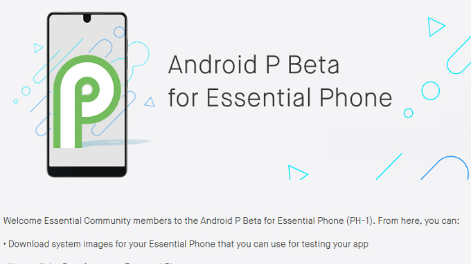 Essential Phone owners receive the latest Android P Beta build