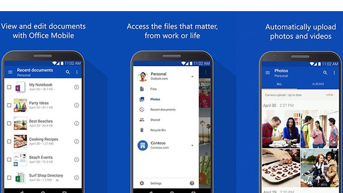 OneDrive for Android updated with fingerprint lock option