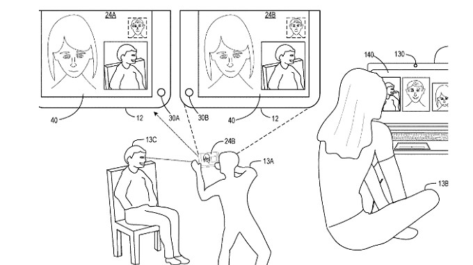 Microsoft receives patent for three-way video streaming on a multi-screen device