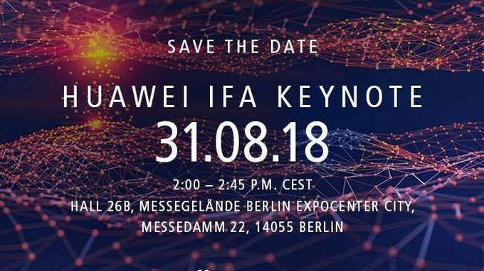 Huawei sets IFA keynote for August 31, most likely to unveil the Kirin 980 SoC