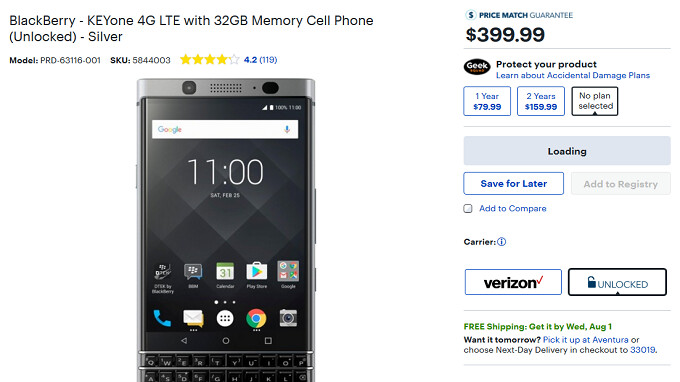 Unlocked BlackBerry KEYone for Verizon priced at $350 with one simple condition