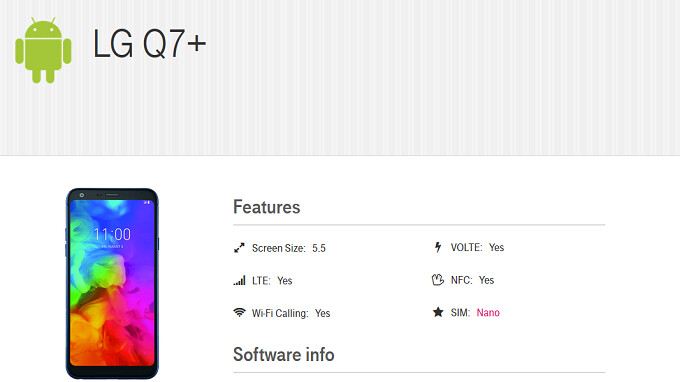 T-Mobile to offer the LG Q7+; device carries 5.5-inch Full Vision screen