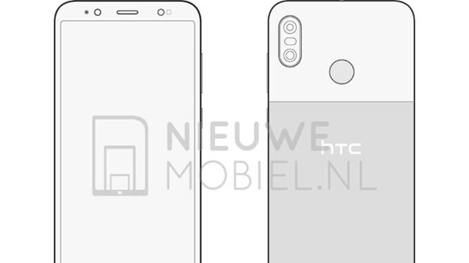 HTC U12 Life sketches confirm dual-camera, rear-mounted fingerprint sensor