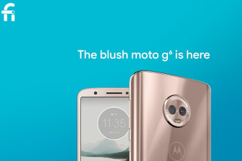 Google brings the Moto G6 in blush color to Project Fi