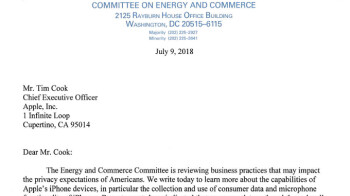 """Apple repeats that """"the customer is not our product,"""" this time to Congress"""