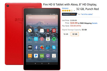 Save 45% on the 32GB Fire HD 8 tablet from Amazon