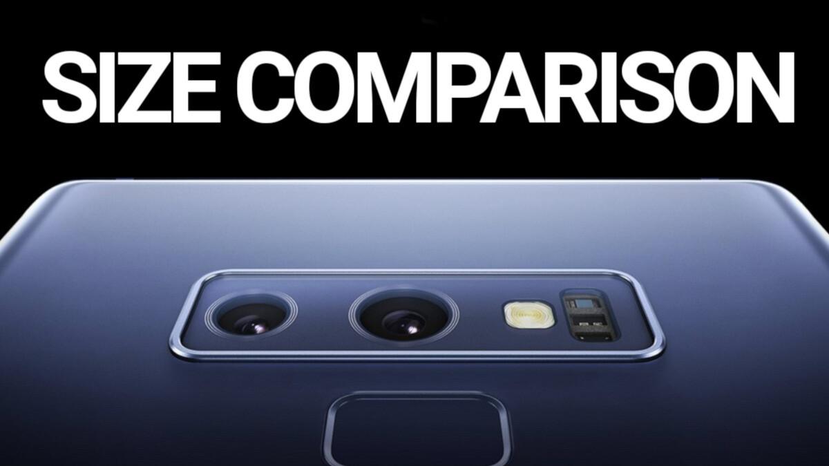 Samsung Galaxy Note 9 vs Note 8, iPhone X, Pixel 2 XL: size comparison