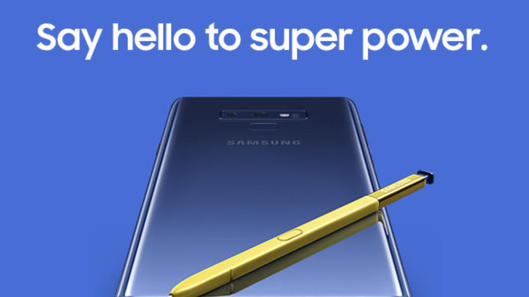 Galaxy Note 9 liveblog: follow the announcement live!