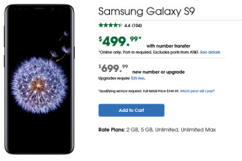 Port over your current number to Cricket and pay $500 for the Samsung Galaxy S9