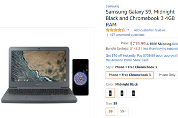 Deal: Buy a Samsung Galaxy S9 or S9+ from Amazon and get a free Chromebook