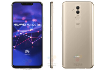 Huawei Mate 20 Lite shows its notch in first press renders
