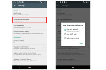 Google Play Store now allows users to set app download preferences