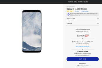 $350 buys you the T-Mobile version of the Galaxy S8 directly from Samsung